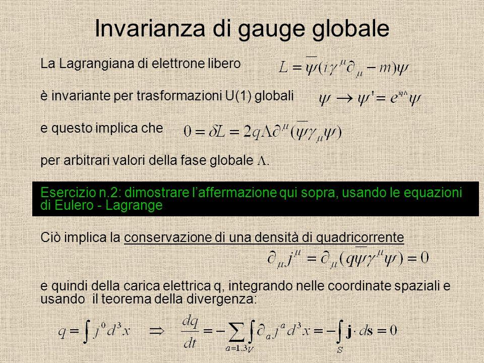 Invarianza di gauge globale