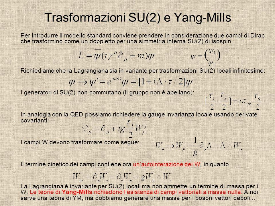 Trasformazioni SU(2) e Yang-Mills