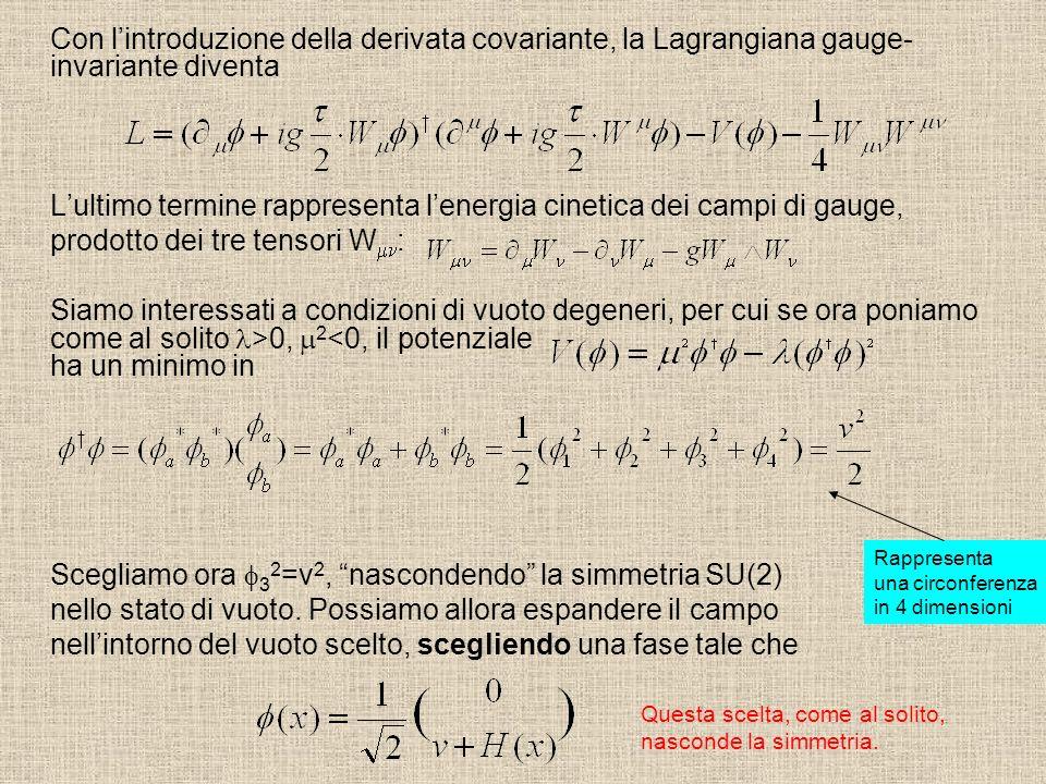 L'ultimo termine rappresenta l'energia cinetica dei campi di gauge,