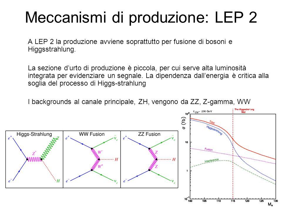 Meccanismi di produzione: LEP 2
