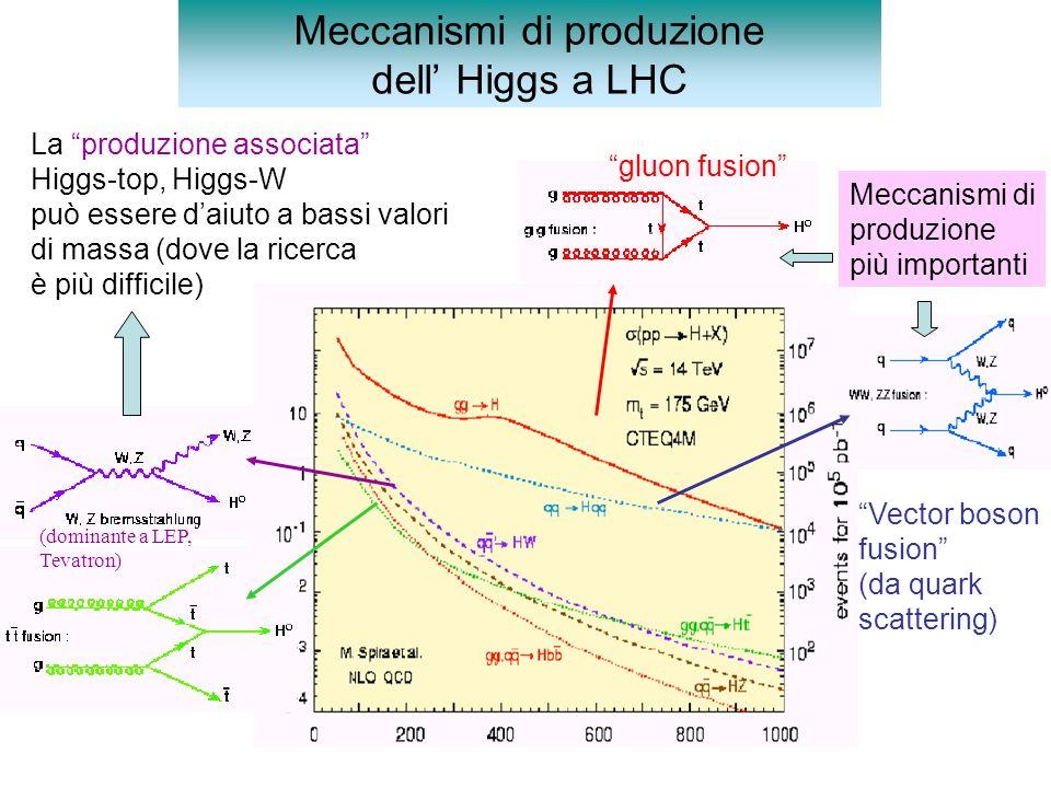 Meccanismi di produzione dell' Higgs a LHC