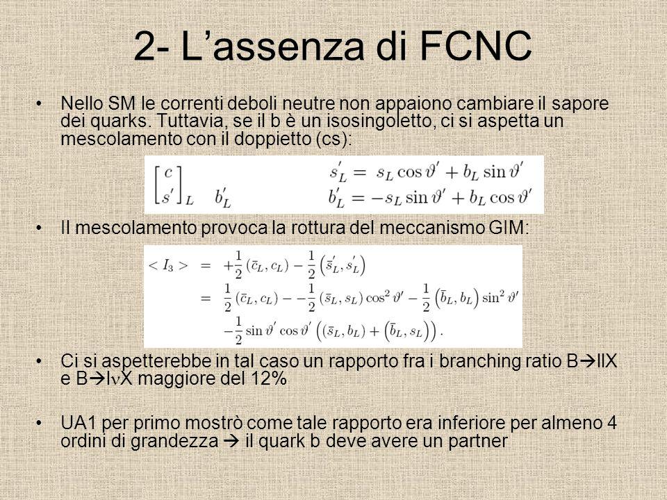 2- L'assenza di FCNC