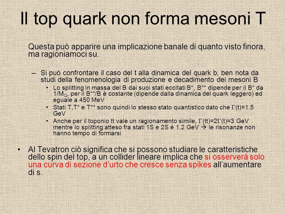 Il top quark non forma mesoni T
