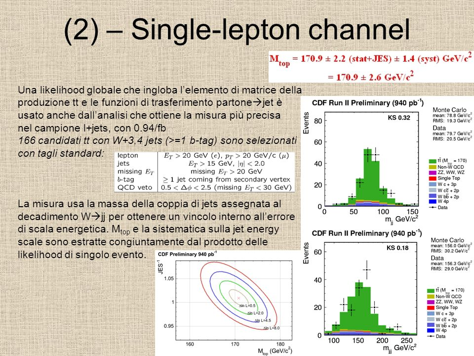 (2) – Single-lepton channel