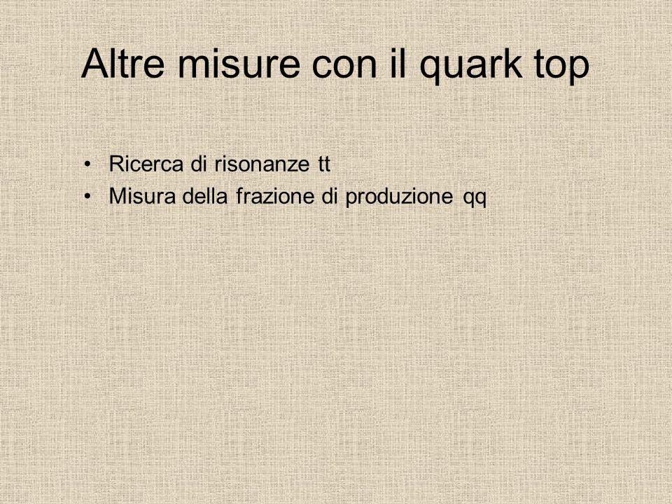 Altre misure con il quark top
