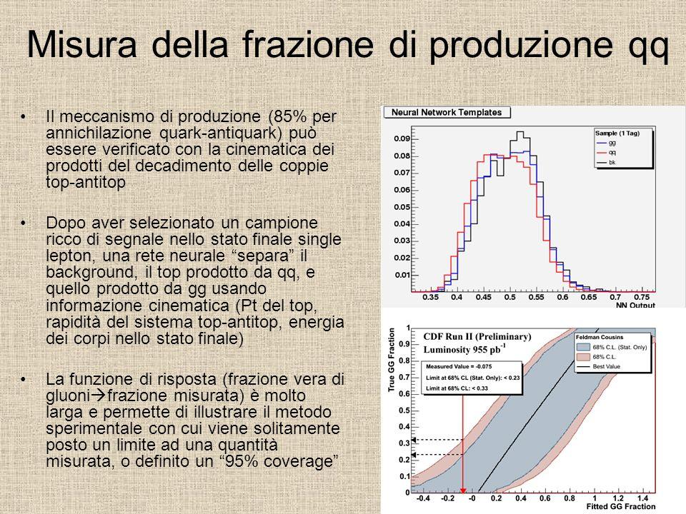 Misura della frazione di produzione qq