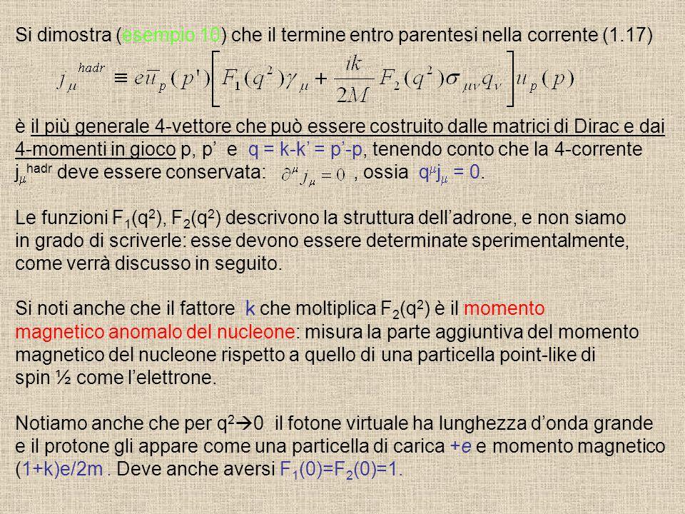 Si dimostra (esempio 10) che il termine entro parentesi nella corrente (1.17)