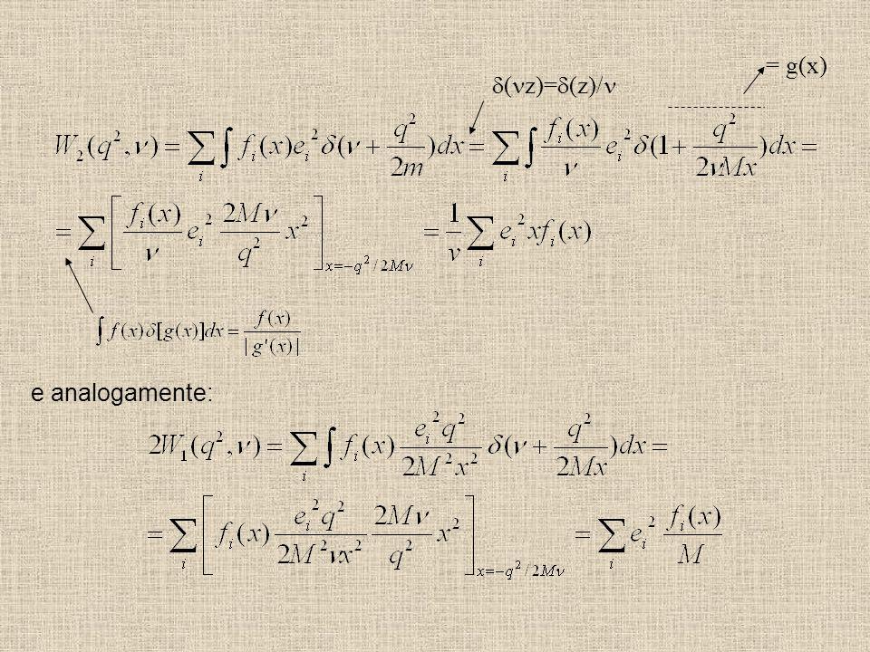 = g(x) d(nz)=d(z)/n e analogamente: