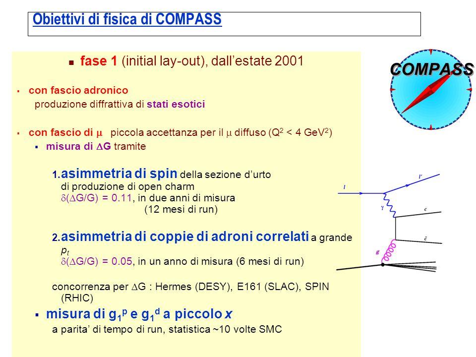 Obiettivi di fisica di COMPASS