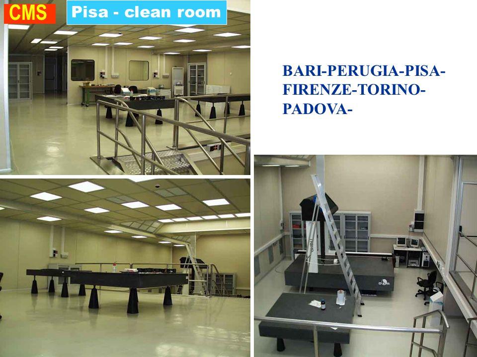 Pisa - clean room CMS BARI-PERUGIA-PISA- FIRENZE-TORINO- PADOVA- ROMA