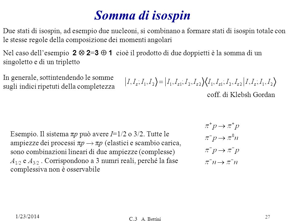 Somma di isospin