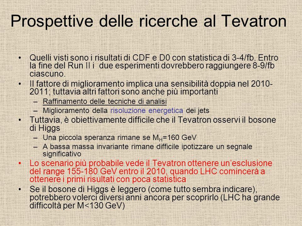 Prospettive delle ricerche al Tevatron
