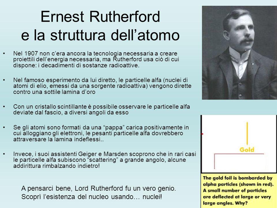 Ernest Rutherford e la struttura dell'atomo