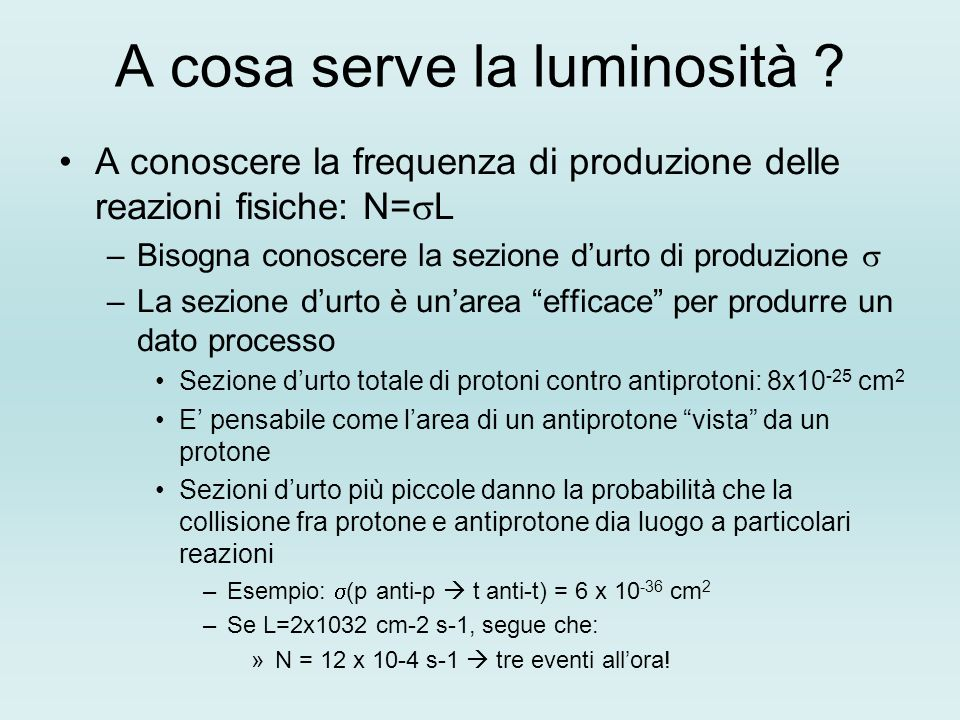 A cosa serve la luminosità