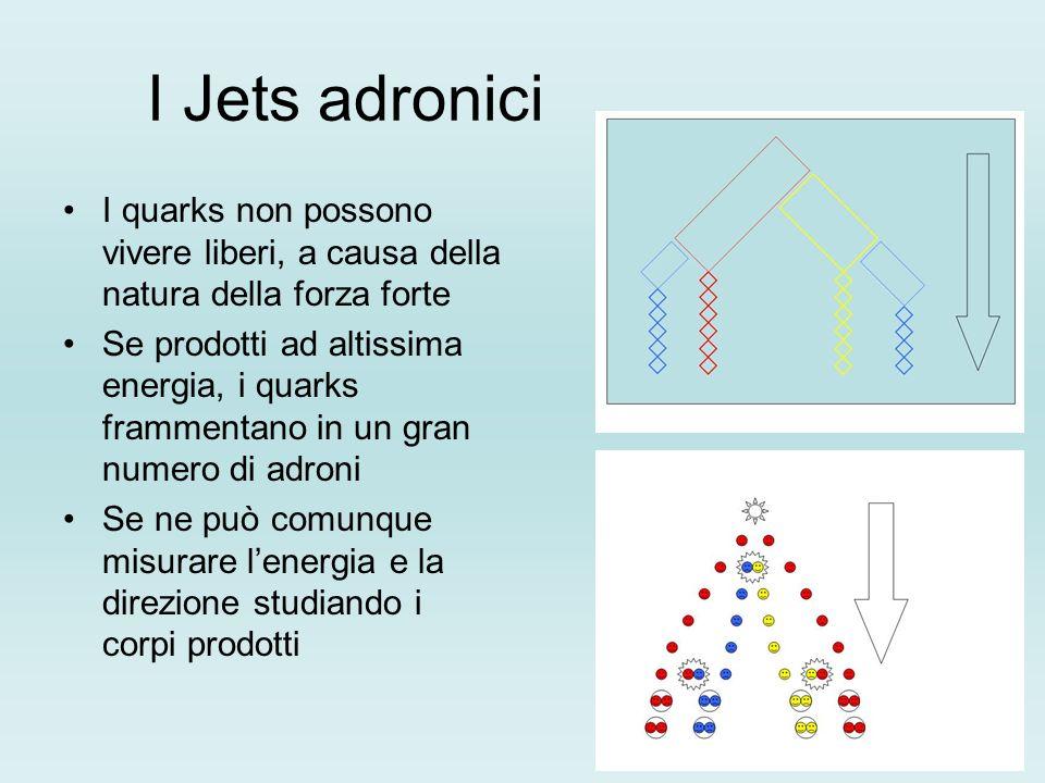 I Jets adroniciI quarks non possono vivere liberi, a causa della natura della forza forte.