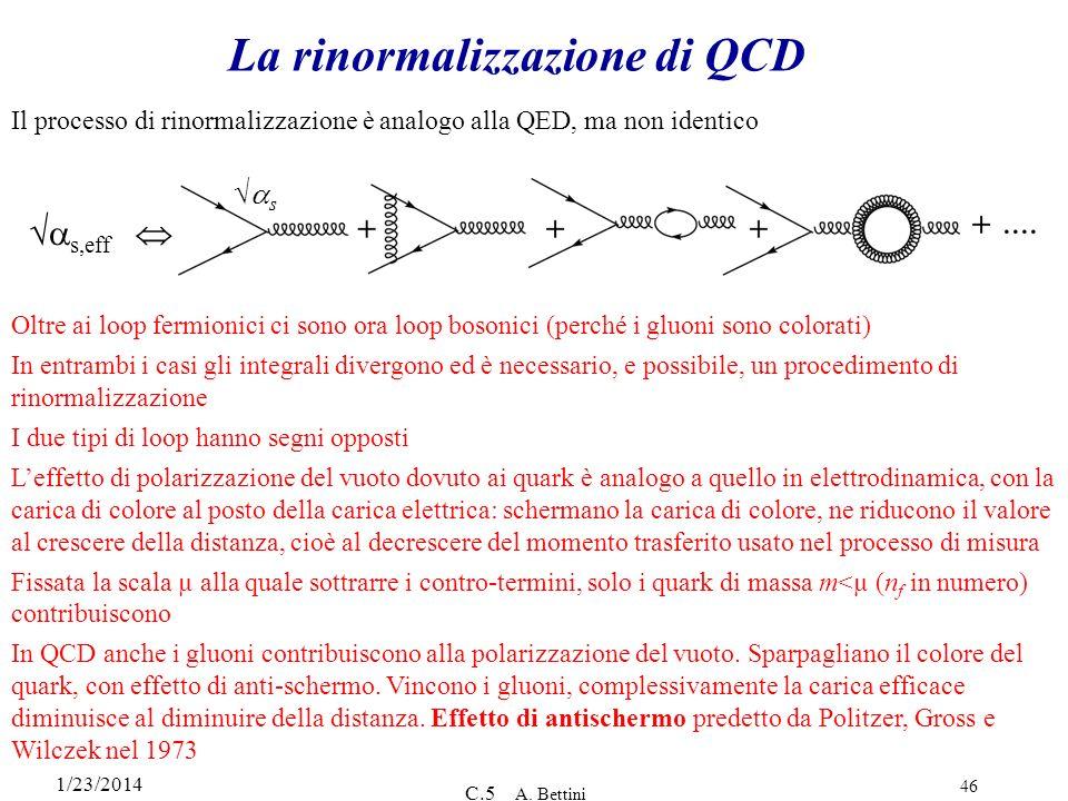 La rinormalizzazione di QCD