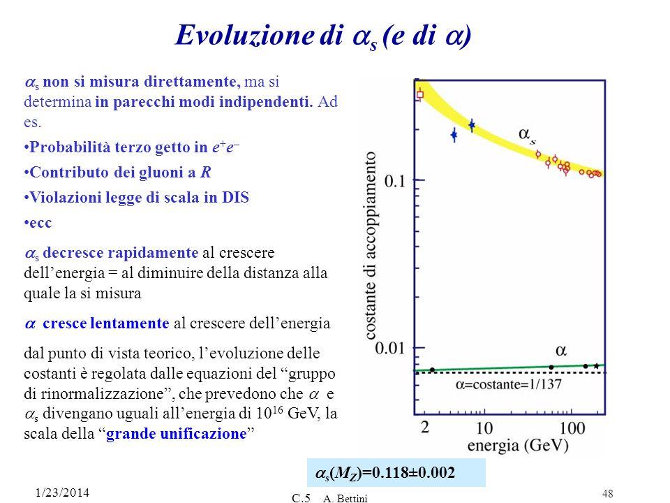 Evoluzione di as (e di a)