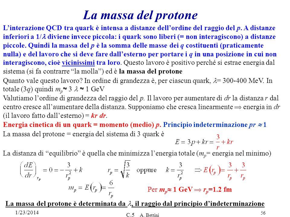 La massa del protone