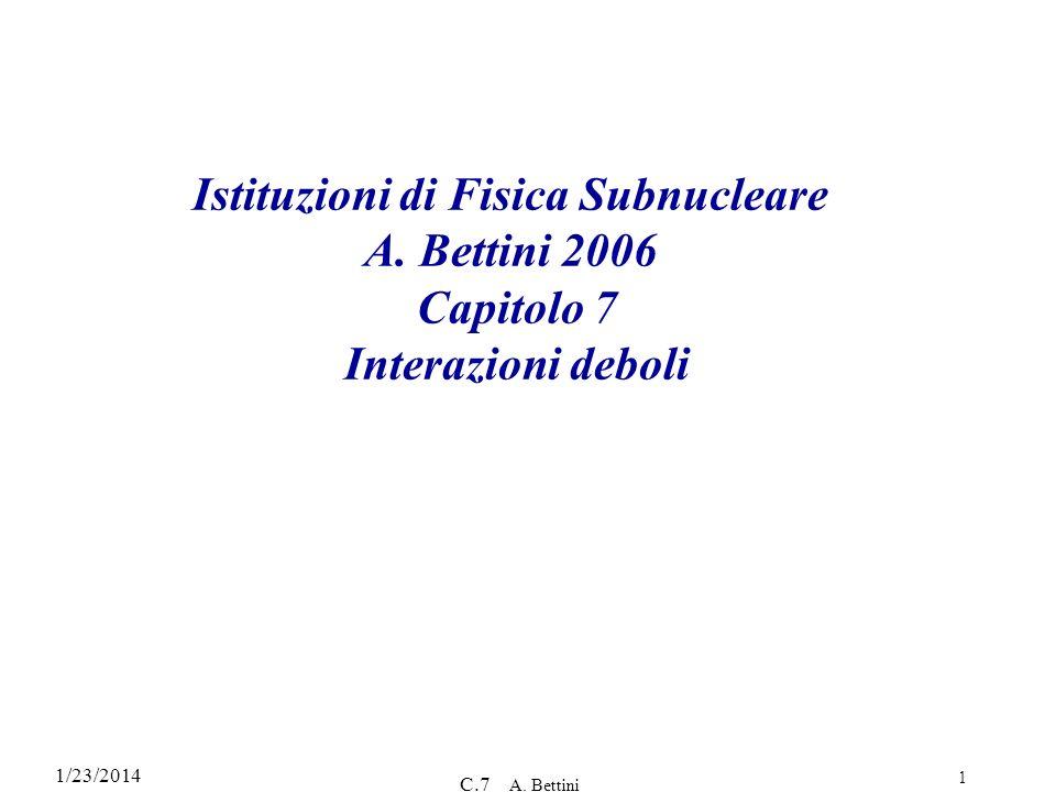 Istituzioni di Fisica Subnucleare A
