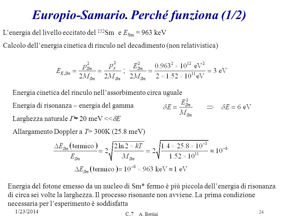 Europio-Samario. Perché funziona (1/2)