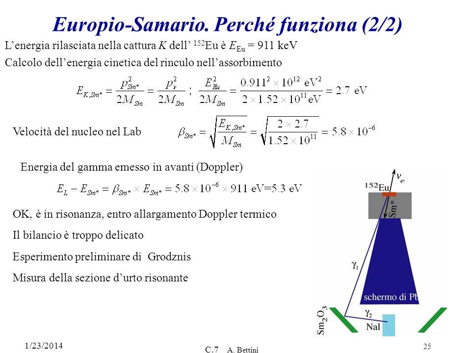 Europio-Samario. Perché funziona (2/2)