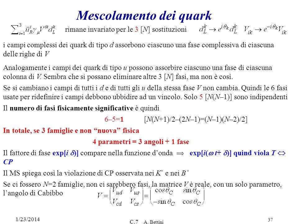 Mescolamento dei quark