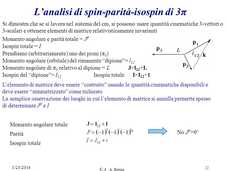 L'analisi di spin-parità-isospin di 3π