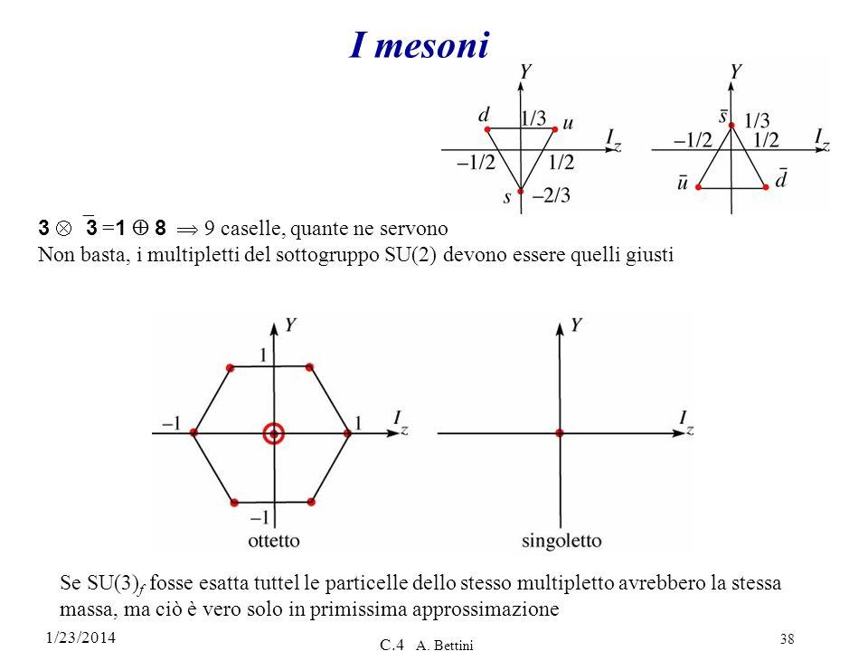 I mesoni 3 ≠3 =1  8  9 caselle, quante ne servono