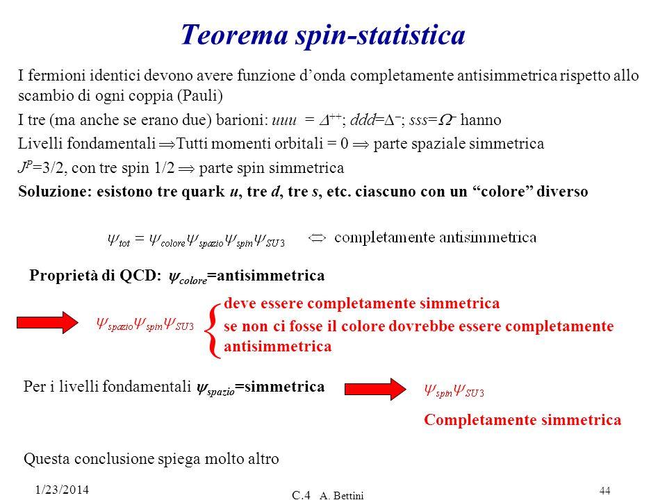 Teorema spin-statistica