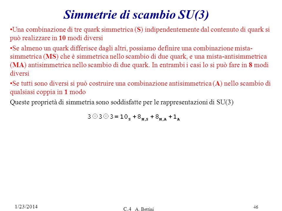 Simmetrie di scambio SU(3)