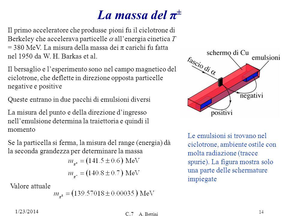La massa del π±