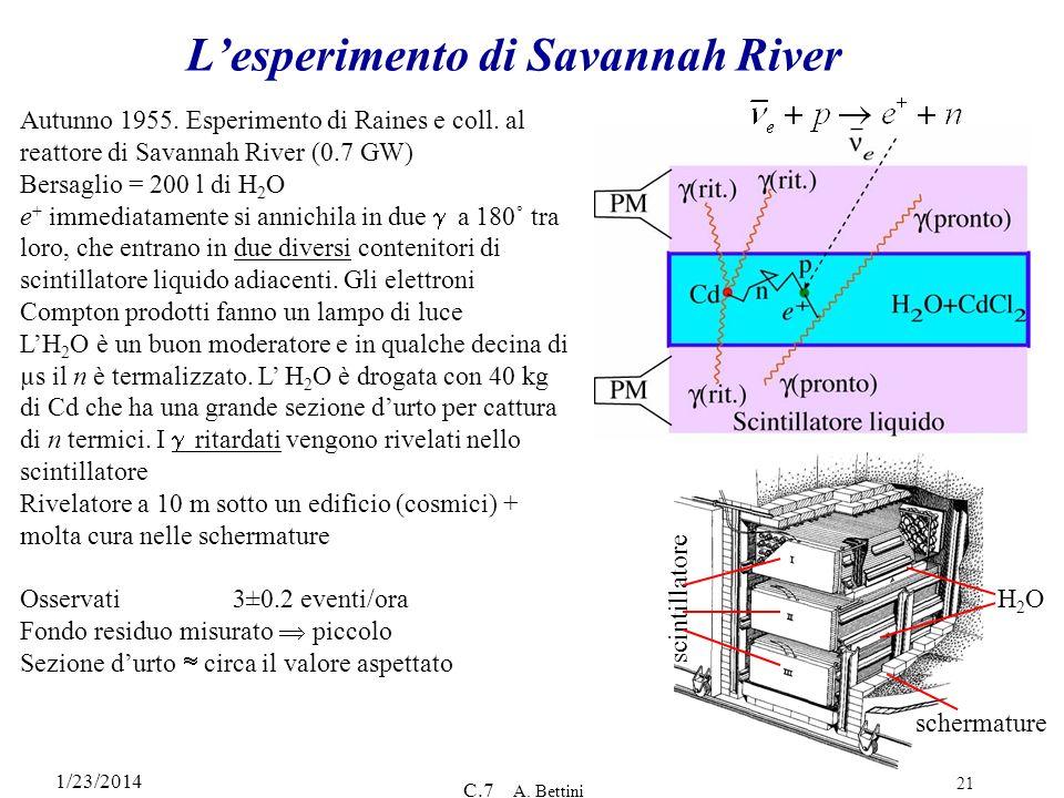 L'esperimento di Savannah River