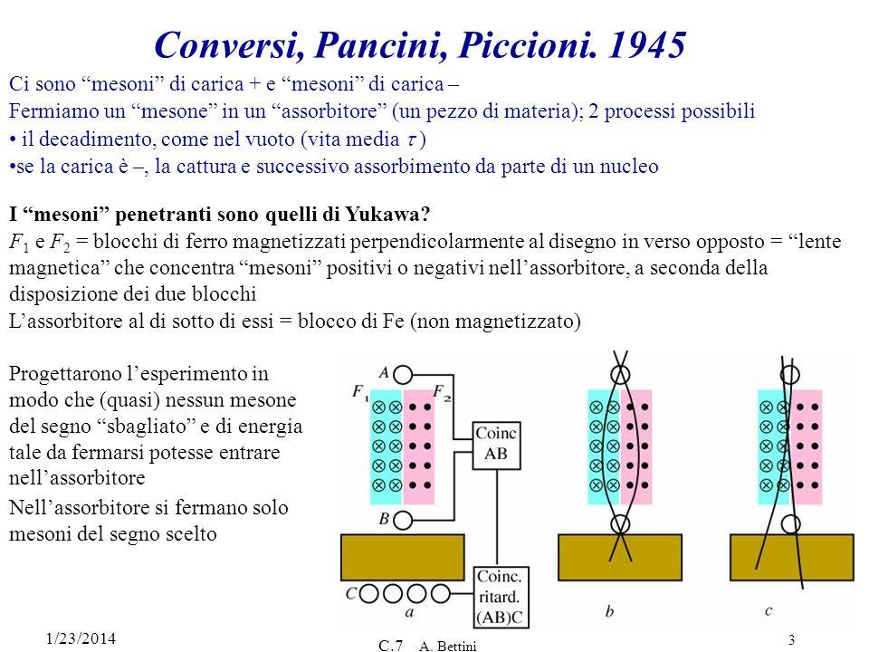 Conversi, Pancini, Piccioni. 1945