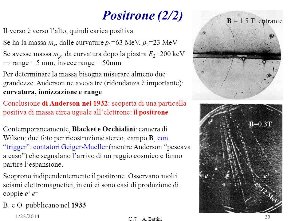 Positrone (2/2) B = 1.5 T entrante