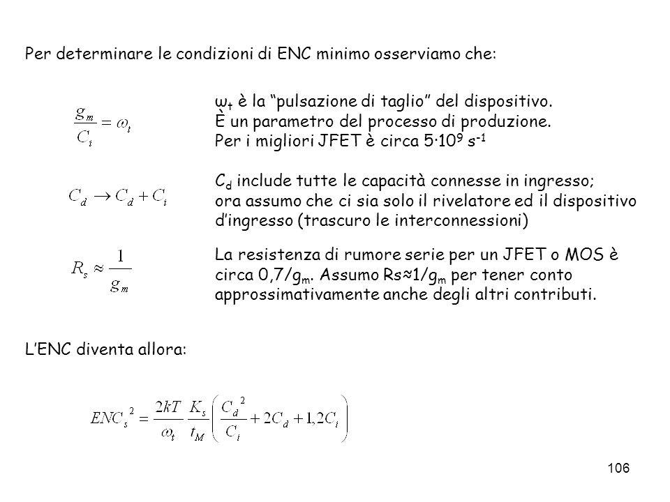 Per determinare le condizioni di ENC minimo osserviamo che: