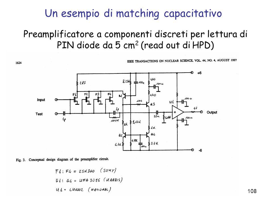 Un esempio di matching capacitativo
