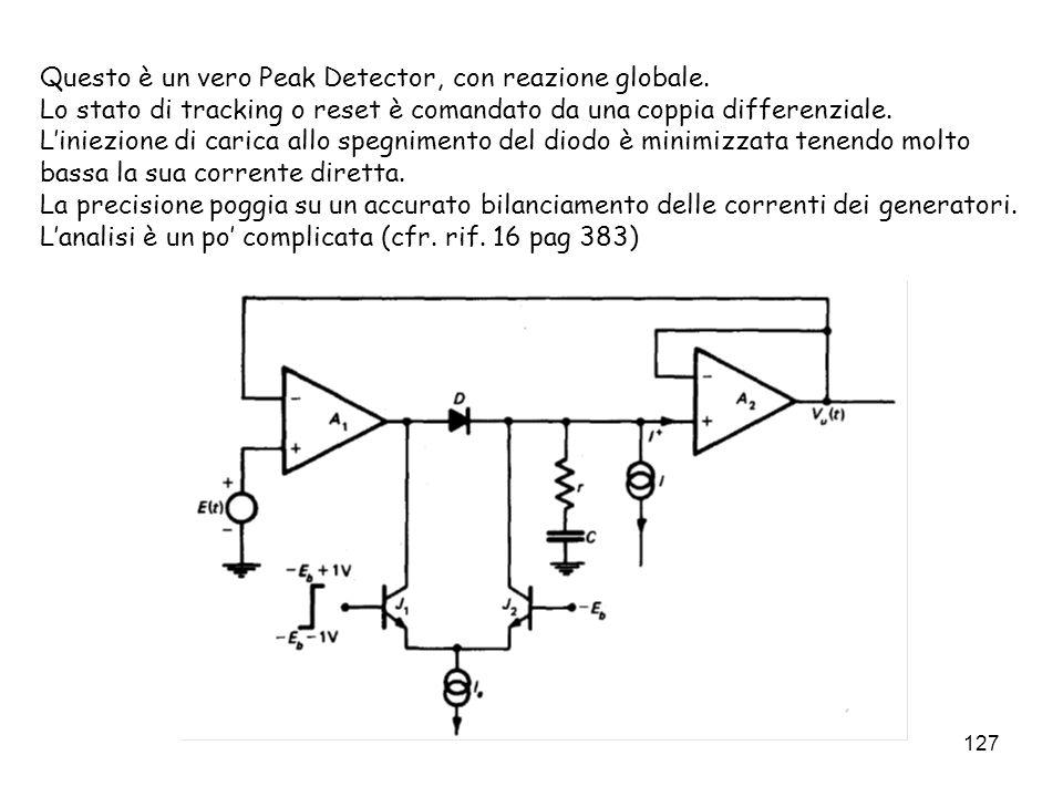 Questo è un vero Peak Detector, con reazione globale