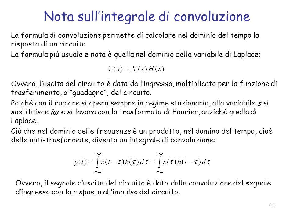 Nota sull'integrale di convoluzione