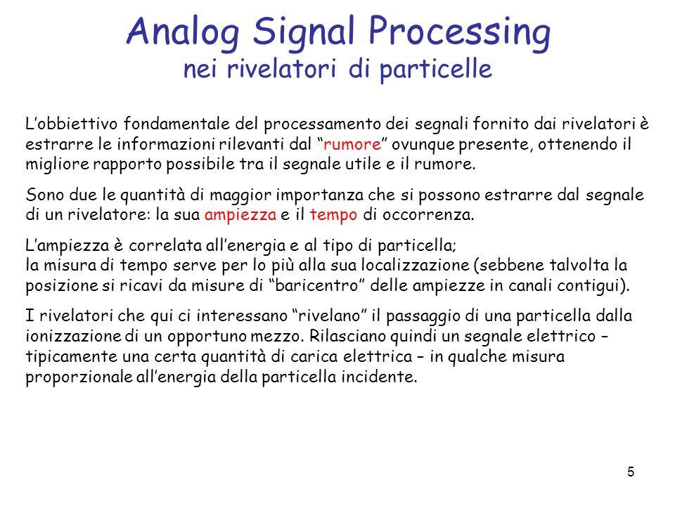 Analog Signal Processing nei rivelatori di particelle