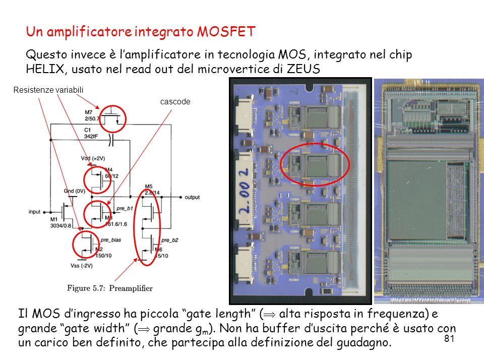 Un amplificatore integrato MOSFET