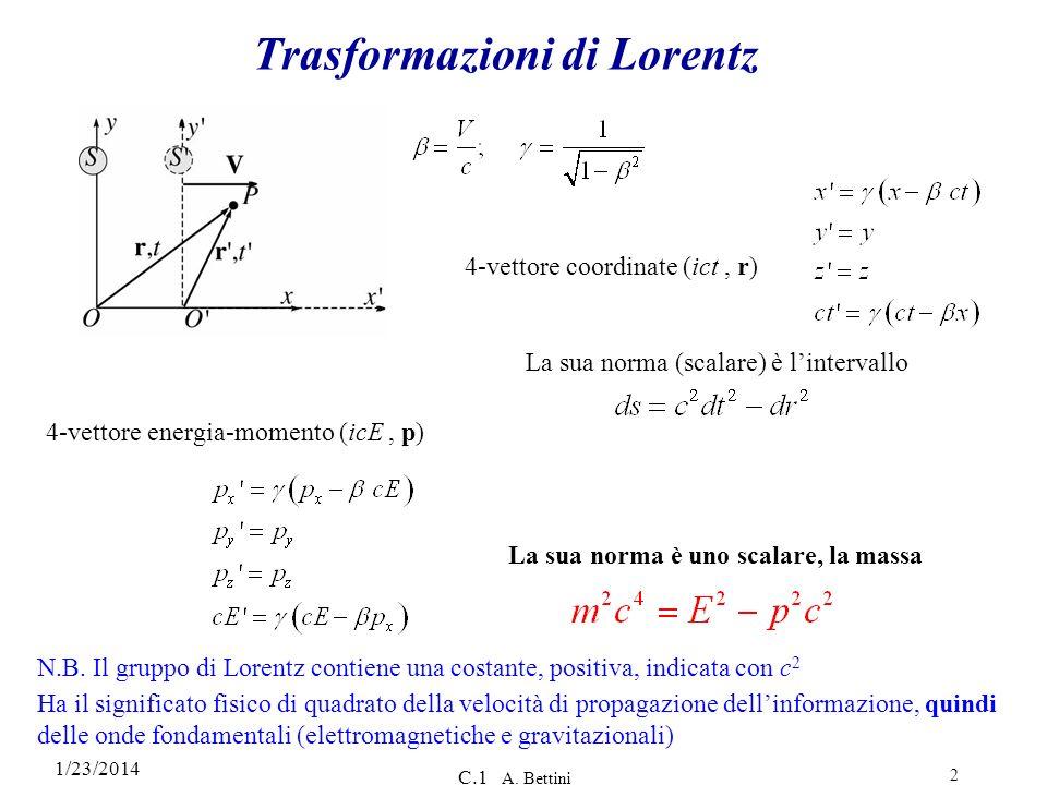 Trasformazioni di Lorentz