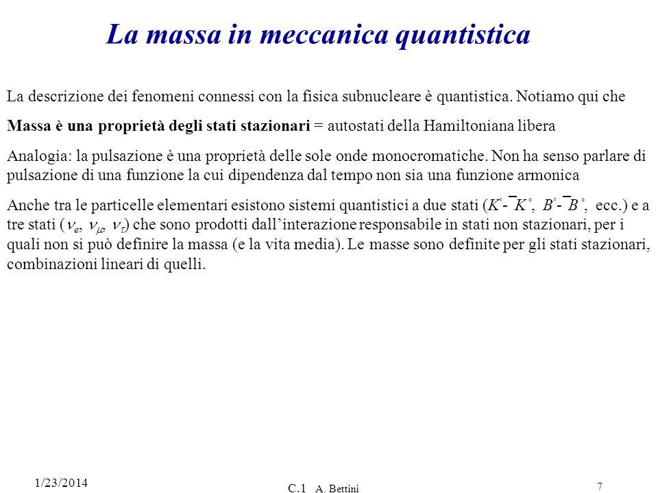 La massa in meccanica quantistica