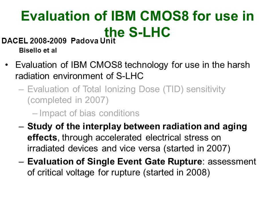 Evaluation of IBM CMOS8 for use in the S-LHC