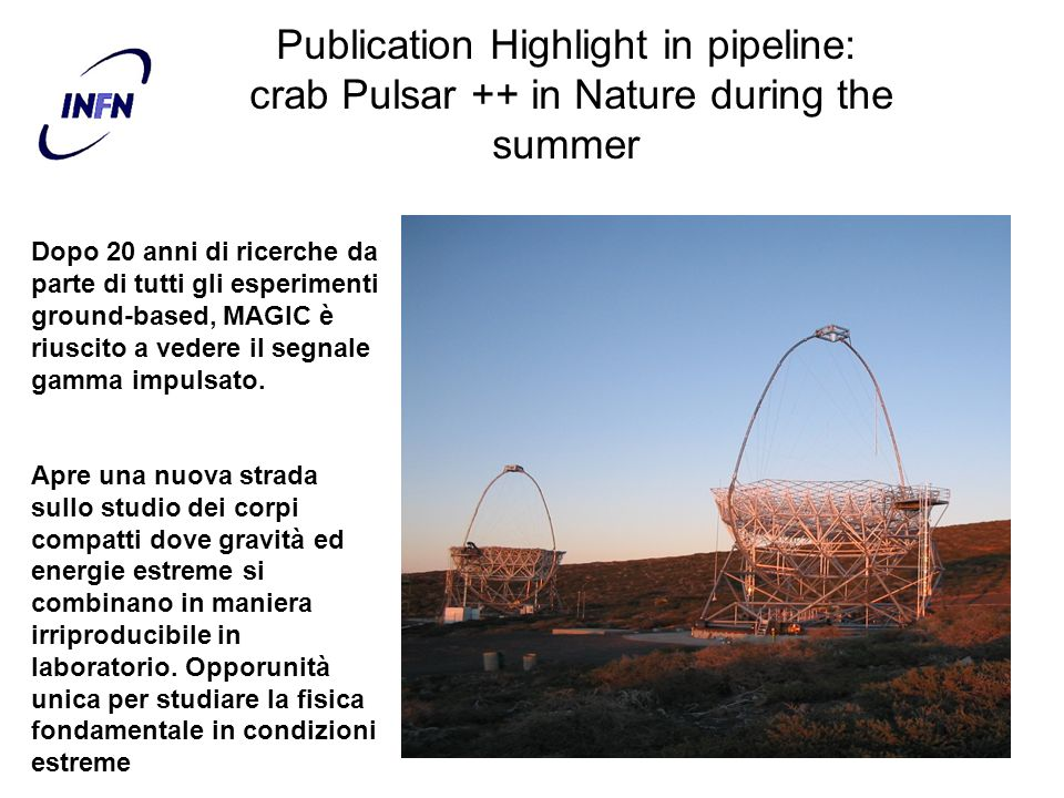 Publication Highlight in pipeline: crab Pulsar ++ in Nature during the summer