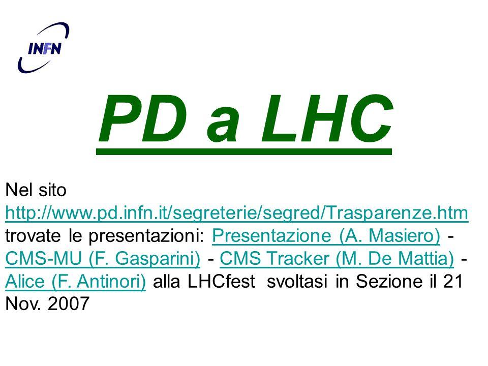 PD a LHC