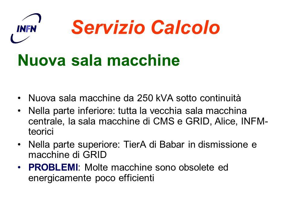 Servizio Calcolo Nuova sala macchine