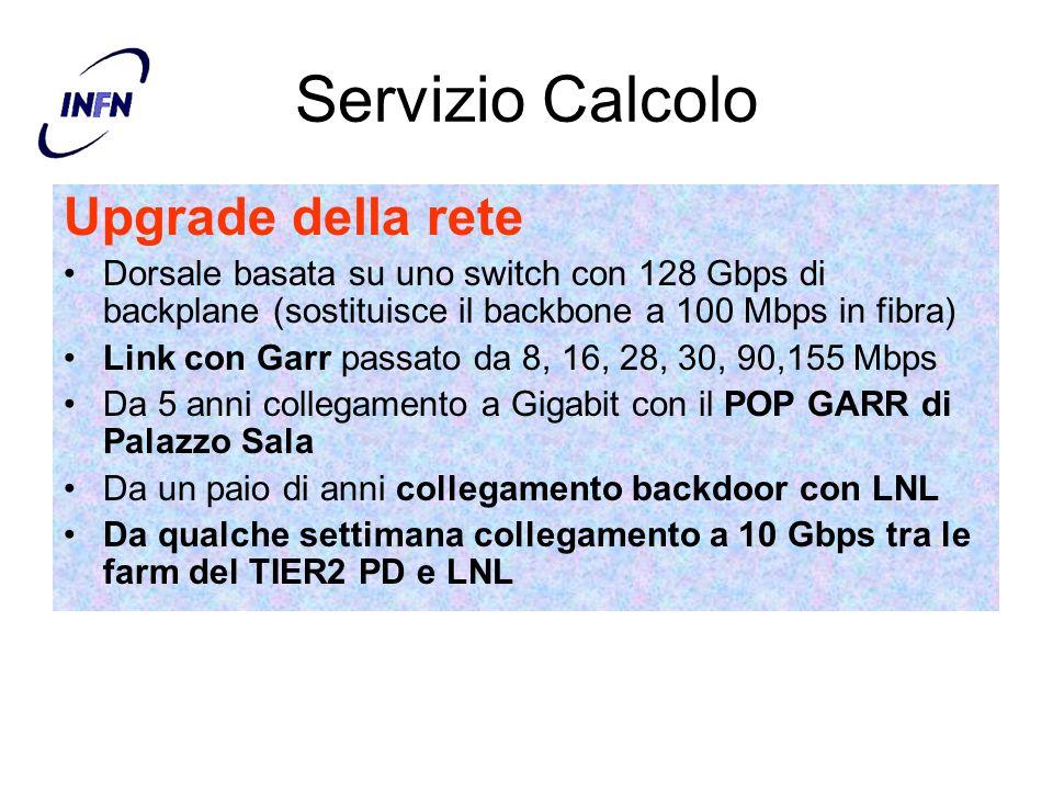 Servizio Calcolo Upgrade della rete