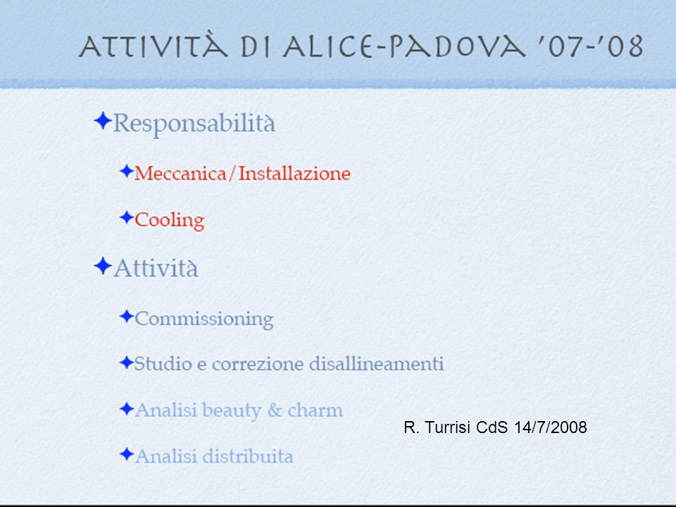 R. Turrisi CdS 14/7/2008