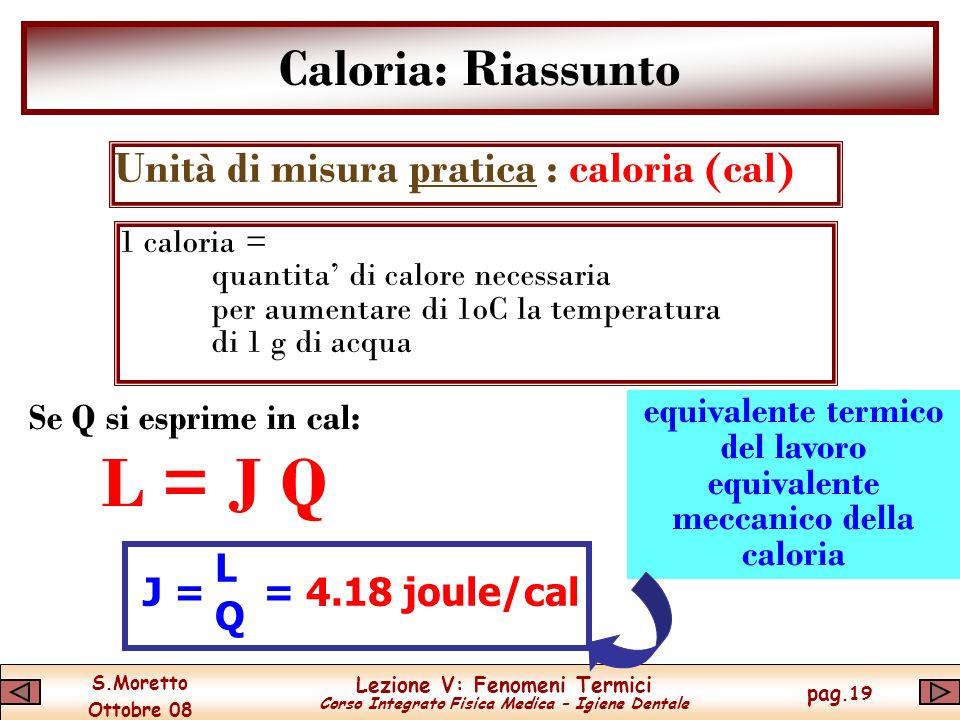 equivalente termico del lavoro equivalente meccanico della caloria