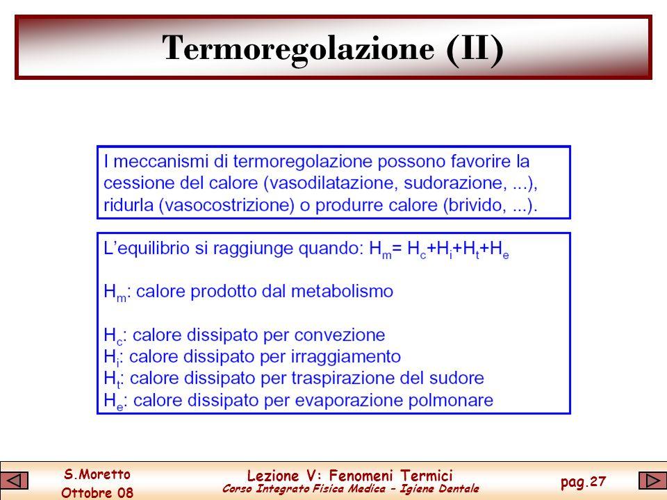 Termoregolazione (II)